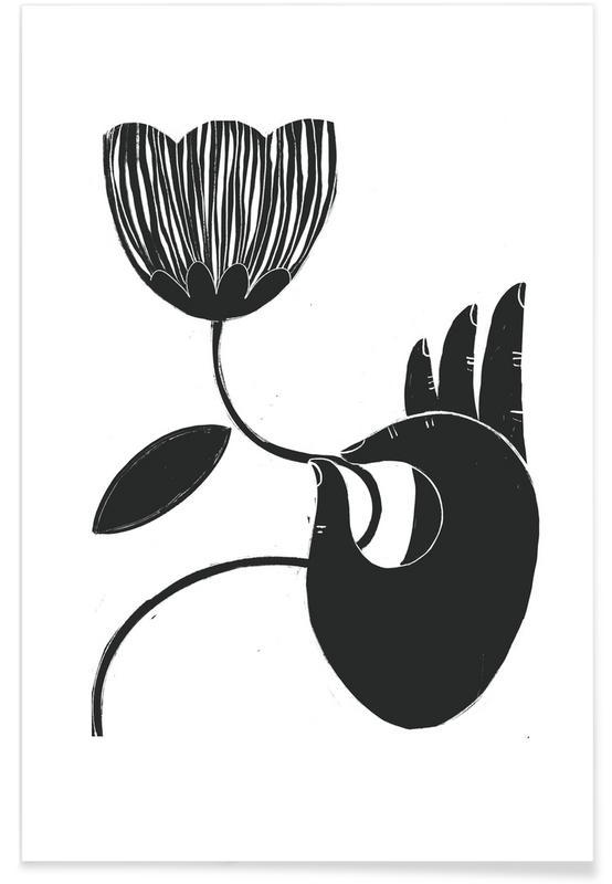 Body Close-Ups, Black & White, Moon Meditation Poster