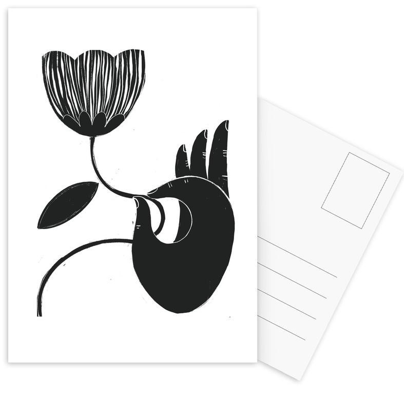 Körperformen, Schwarz & Weiß, Moon Meditation -Postkartenset