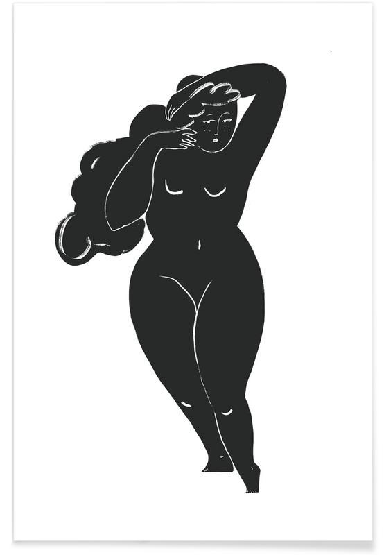 Portraits, Black & White, Tame the Mane Poster