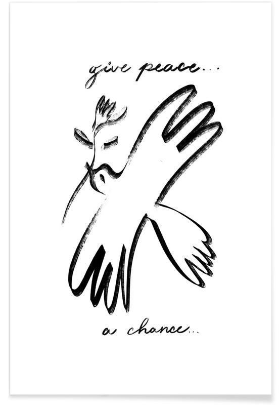 Naissances, Noir & blanc, Dove of Peace affiche