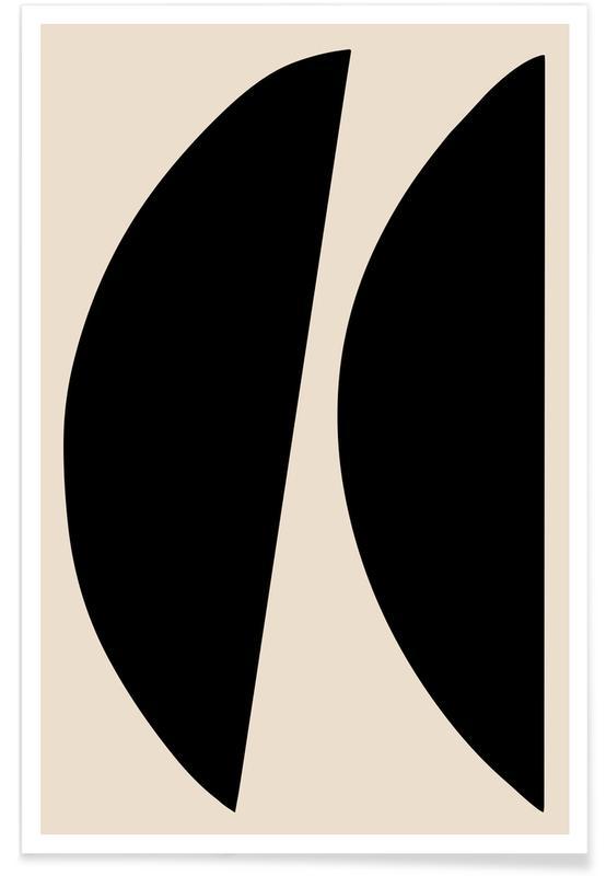 Zwart en wit, Crescents poster