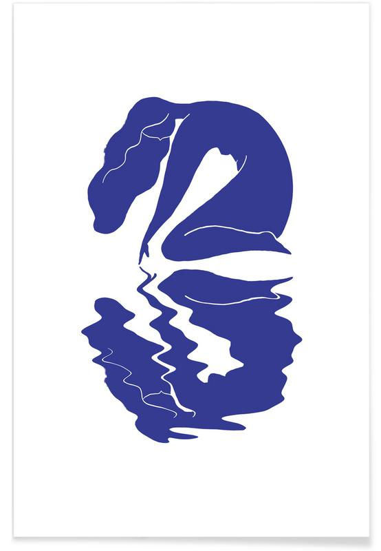 Portretten, Blurred Blue poster