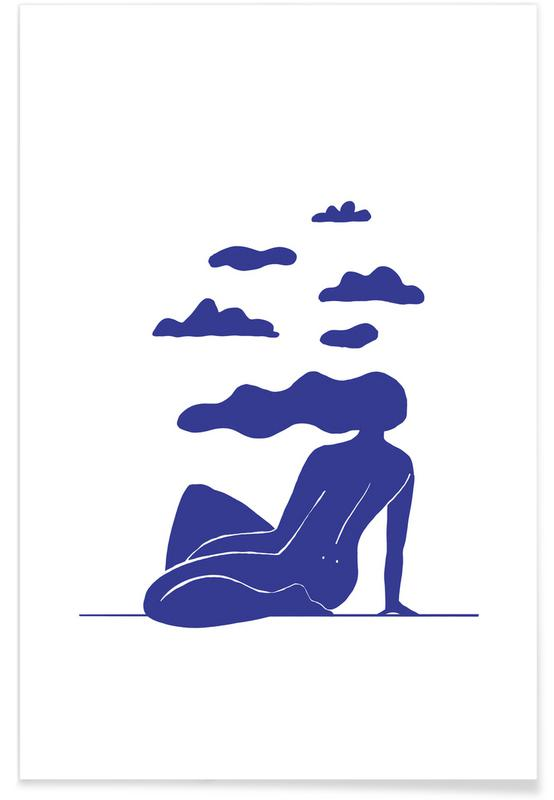 Himmel & Wolken, Head in the Clouds Blue -Poster