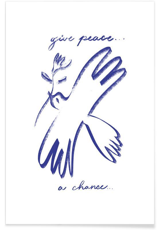 , Dove of Peace Blue affiche