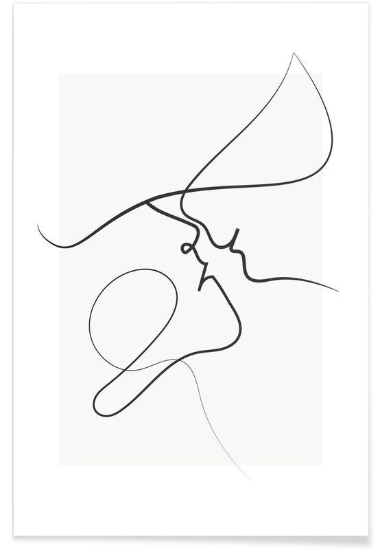 Black & White, Playful Poster