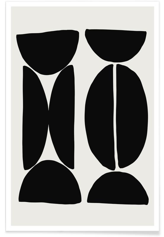 Noir & blanc, Coffee Bean affiche