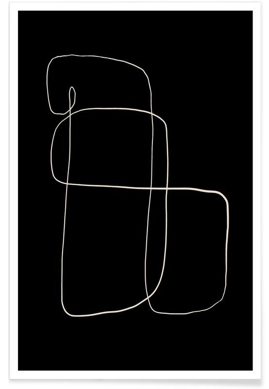 Zwart en wit, Illuminate poster