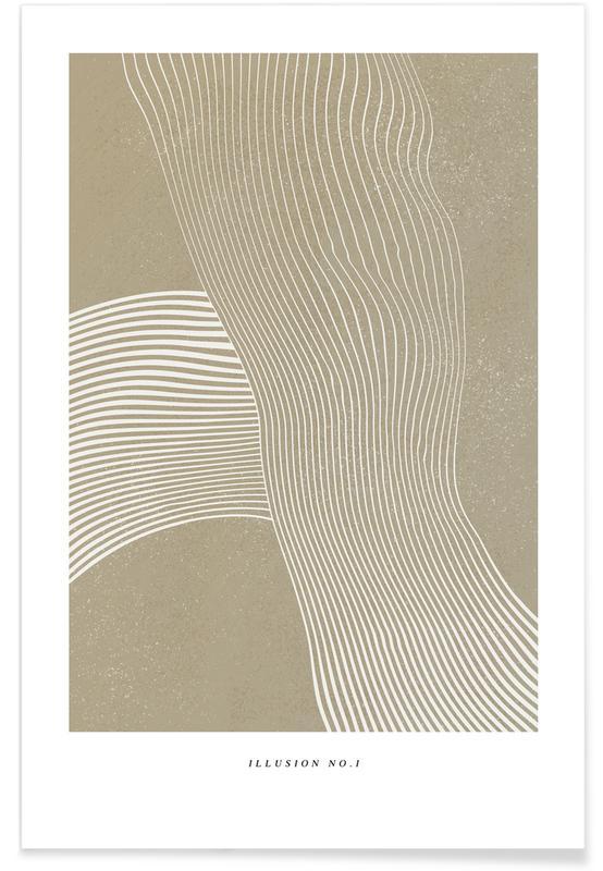 Schwarz & Weiß, Illusion I -Poster