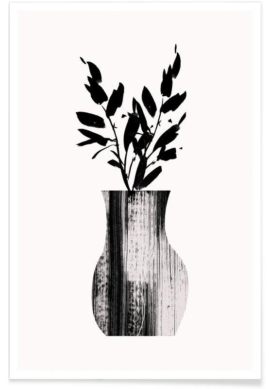 Black & White, Vase Poster