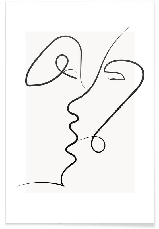 Zwart en wit, Kissed poster