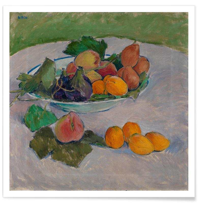 Koloman Moser, Moser - Still Life with Fruit and Leaves poster
