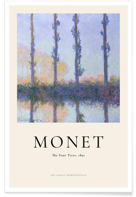 Claude Monet, Monet - The Four Trees affiche