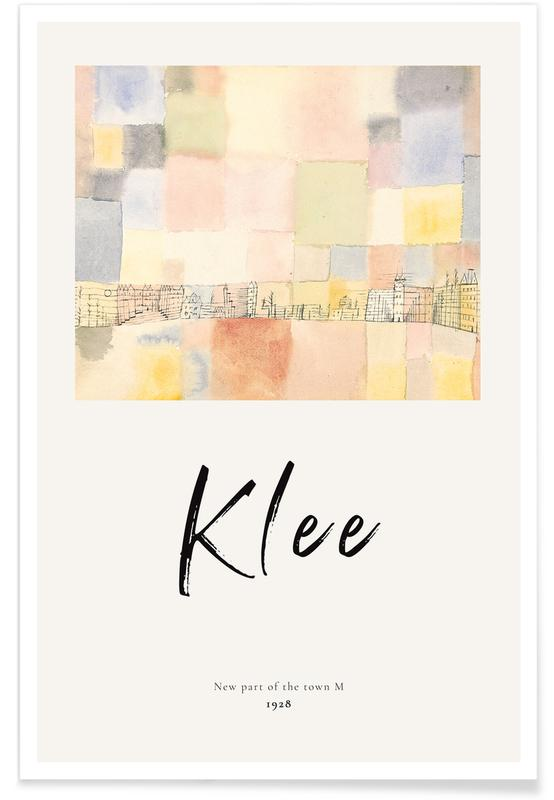 Paul Klee, Klee - New Part of the Town M affiche