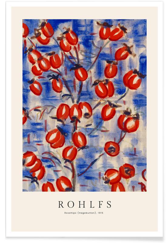 Christian Rohlfs, Rohlfs - Rosehips affiche