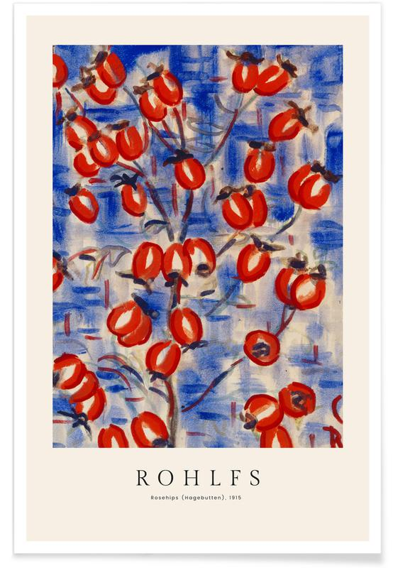 Christian Rohlfs, Rohlfs - Rosehips Poster