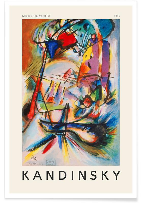 Wassily Kandinsky, Kandinsky - Komposition Zwecklos -Poster