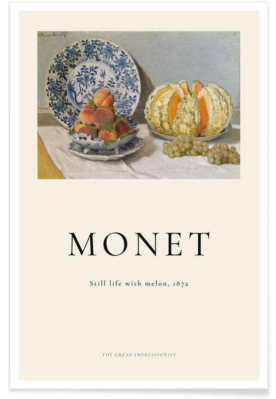 Claude Monet, Monet - Still Life with Melon affiche