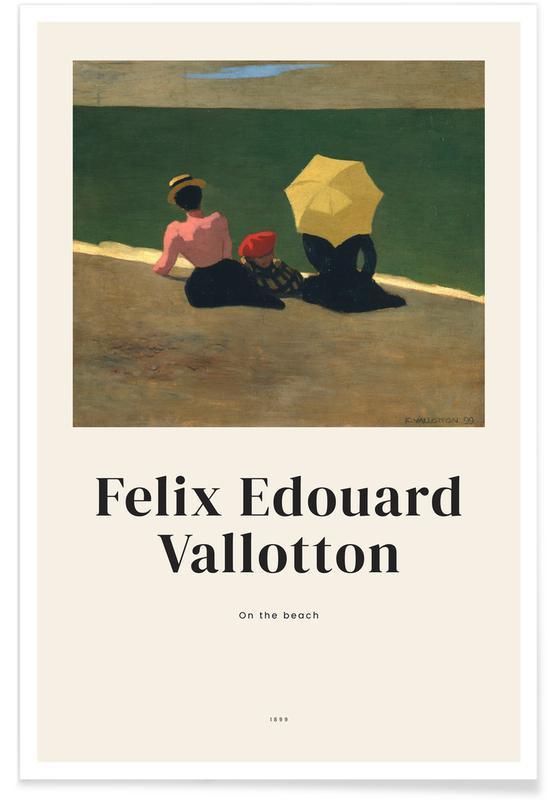 Félix Vallotton, Portraits, Vallotton - On the Beach affiche