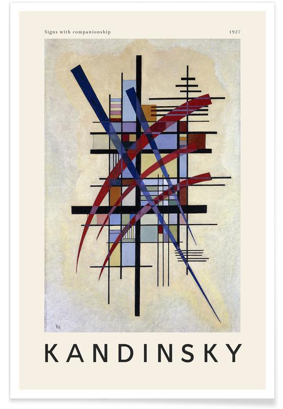 Wassily Kandinsky, Kandinsky - Signs with Companionship affiche