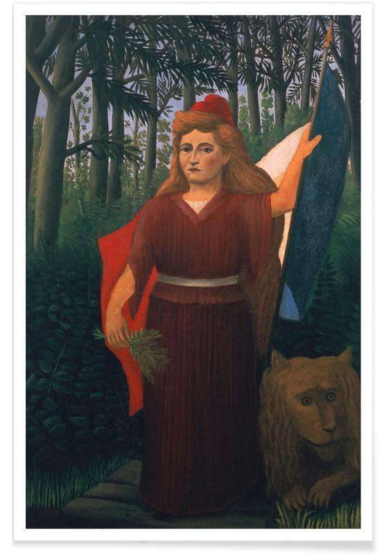 Wälder, Löwen, Henri Rousseau, Rousseau - The French Republic -Poster