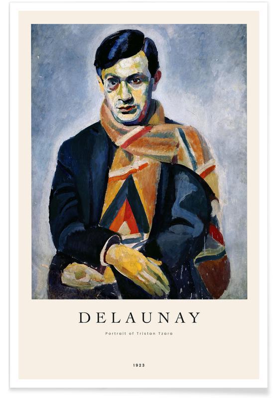 Robert Delaunay, Portraits, Delaunay - Portrait of Tristan Tzara affiche