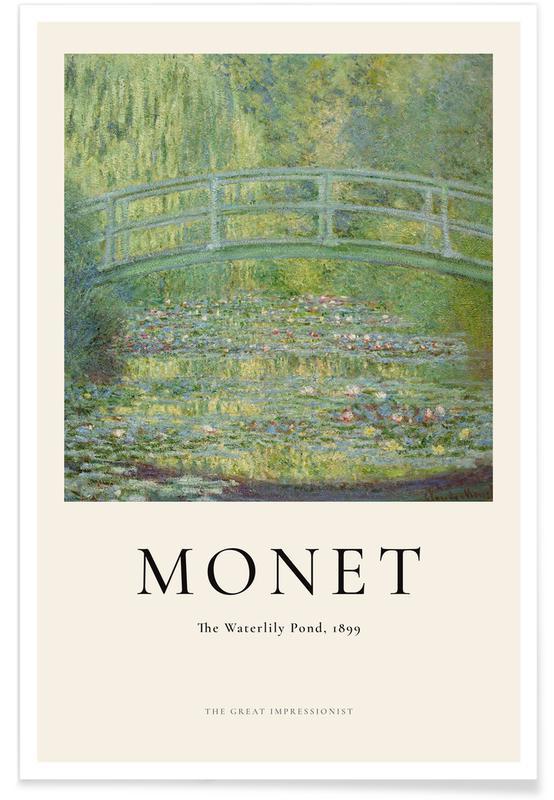 Claude Monet, Monet - The Water-Lily Pond affiche