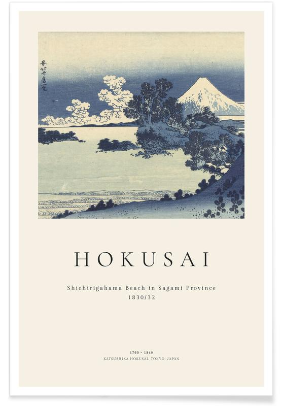 Katsushika Hokusai, Hokusai - Shichirigahama Beach in Sagami Province Poster