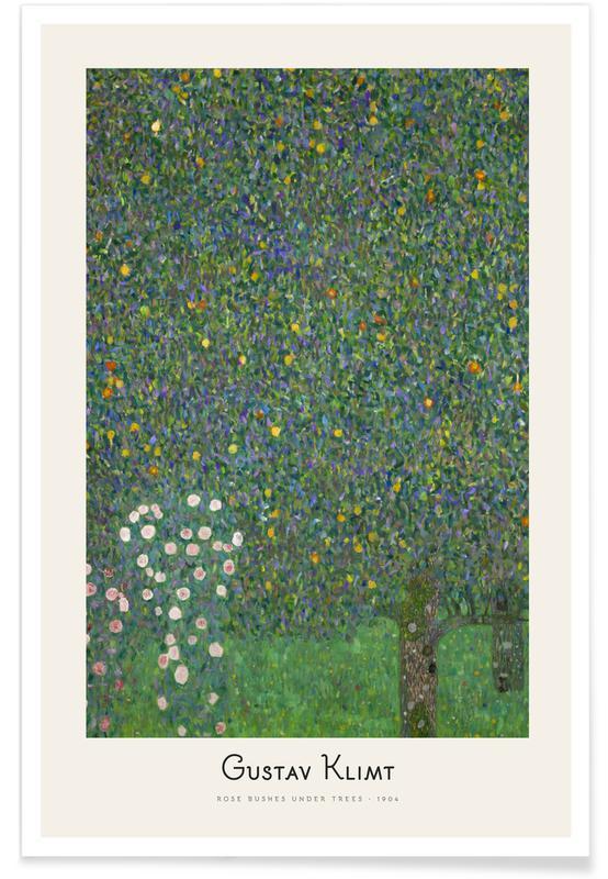 Gustav Klimt, Klimt - Rose Bushes under Trees affiche