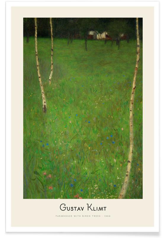 Gustav Klimt, Klimt - Farmhouse with Birch Trees affiche