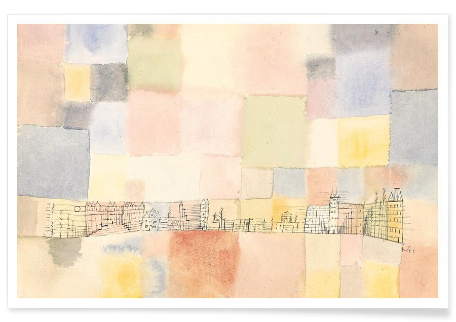 Paul Klee, Klee - New Part of the Town M -Poster