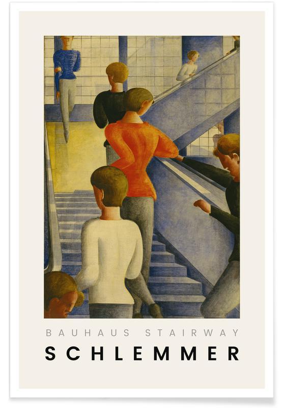 Oskar Schlemmer, Portraits, Schlemmer - Bauhaus Stairway affiche