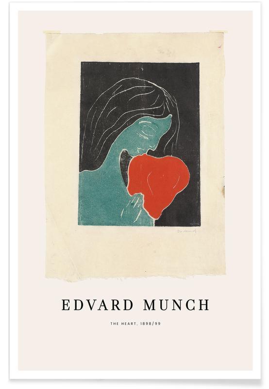Edvard Munch, Cœurs, Munch - The Heart affiche