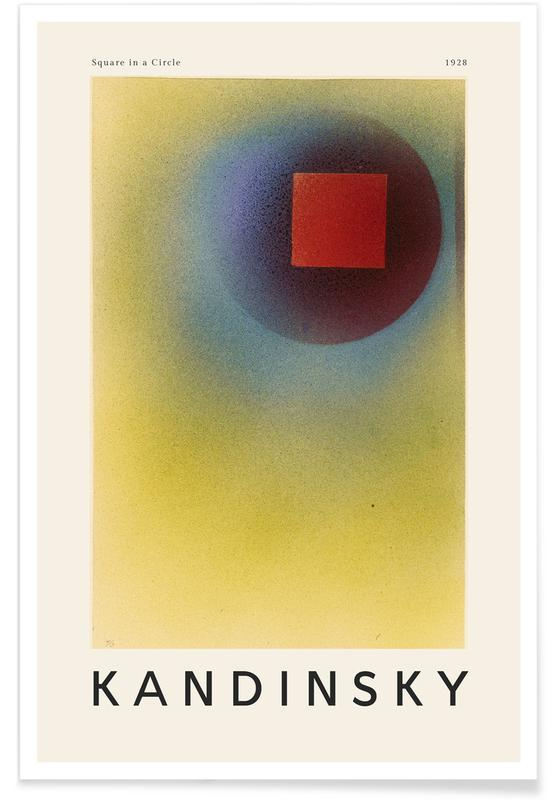 Wassily Kandinsky, Kandinsky - Square in a Circle -Poster
