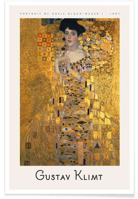 Portraits, Gustav Klimt, Klimt - Portrait of Adele Bloch-Bauer I Poster