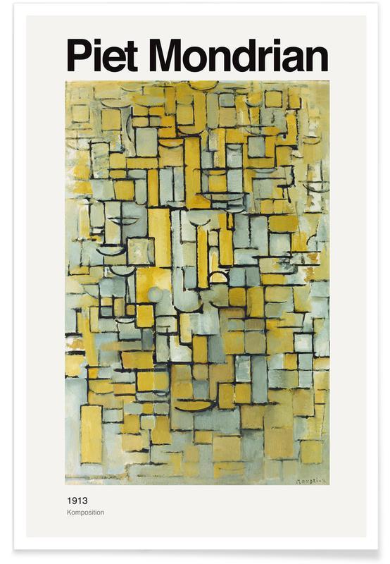 Piet Mondrian, Mondrian - Komposition Poster
