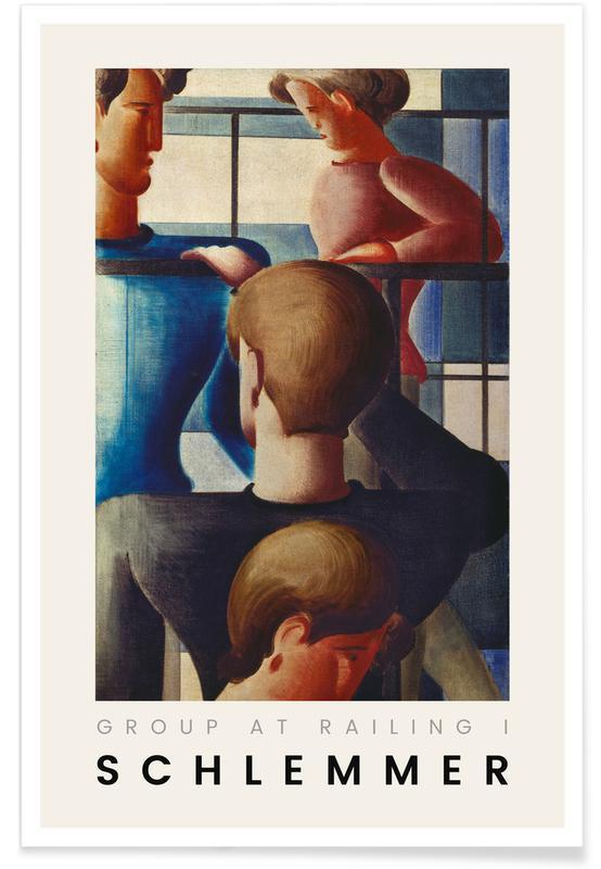 Oskar Schlemmer, Schlemmer - Group at Railing I Poster