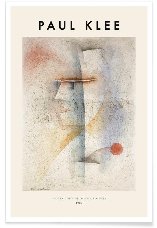 Paul Klee, Klee - Man in Costume (with a Flower) affiche