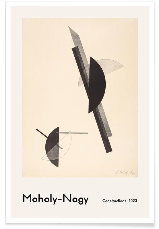László Moholy-Nagy, László Moholy-Nagy - Constructions affiche