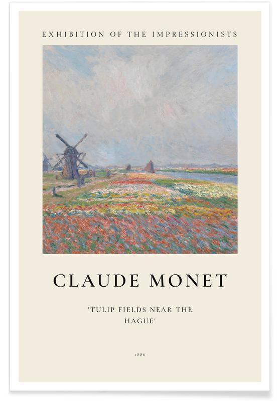 Claude Monet, Monet - Tulip Fields near The Hague Plakat