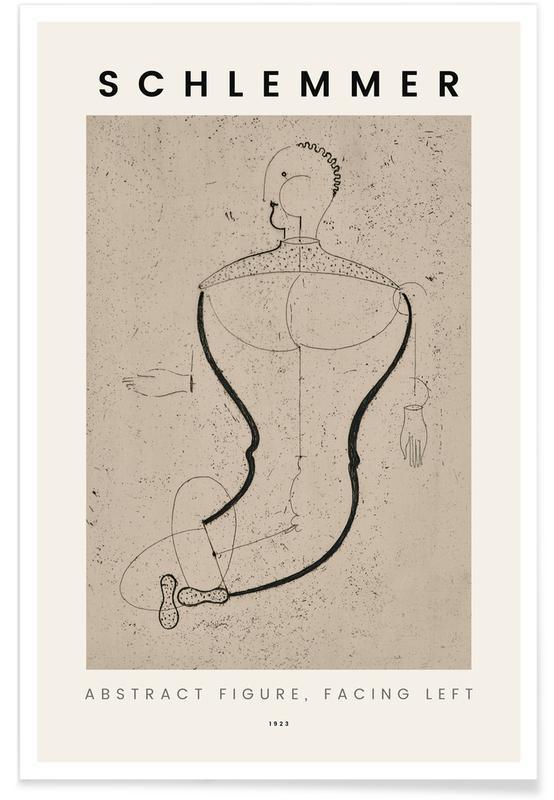 Oskar Schlemmer, Schlemmer - Abstract Figure, Facing Left Poster