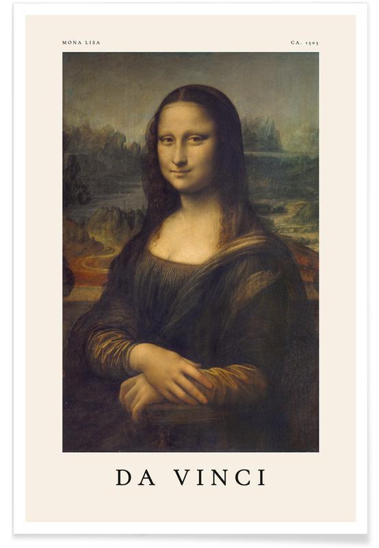 Portraits, Leonardo da Vinci, da Vinci - Mona Lisa affiche