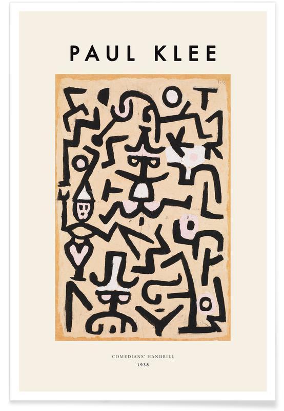 Paul Klee, Klee - Comedians' Handbill affiche