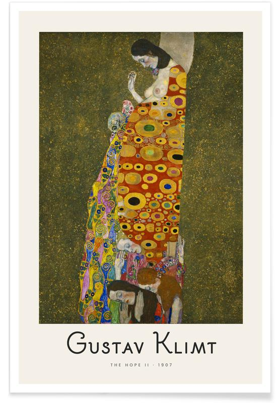 Portraits, Gustav Klimt, Klimt - The Hope II affiche