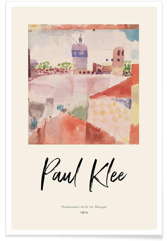 Paul Klee, Klee - Hammamet with its Mosque affiche