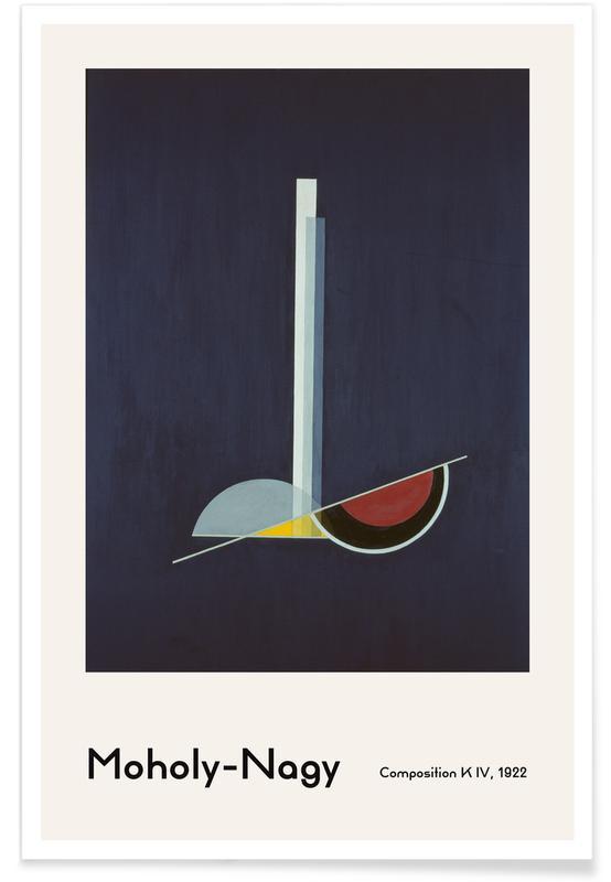 László Moholy-Nagy, László Moholy-Nagy - Composition K IV affiche