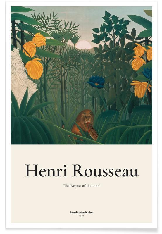 Henri Rousseau, Rousseau - The Repast of the Lion -Poster