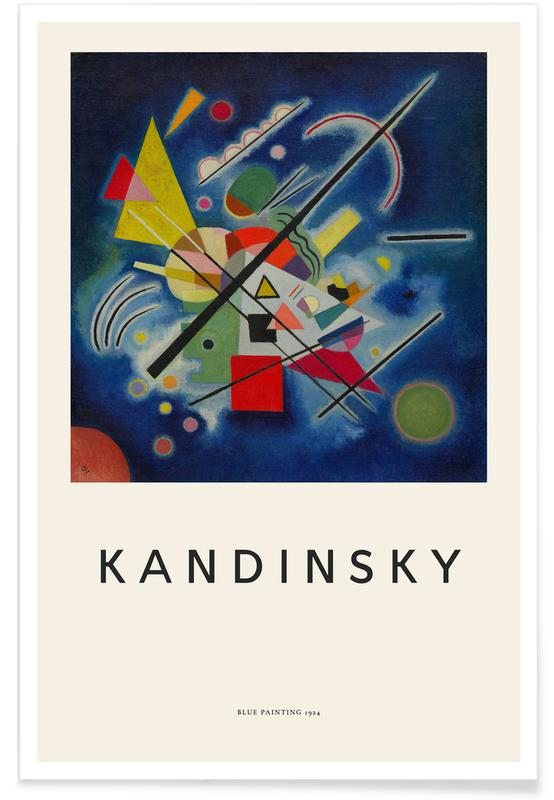 Wassily Kandinsky, Kandinsky - Blue Painting affiche