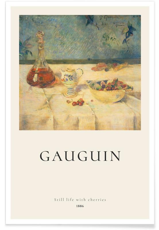 Paul Gauguin, Gauguin - Still Life with Cherries póster
