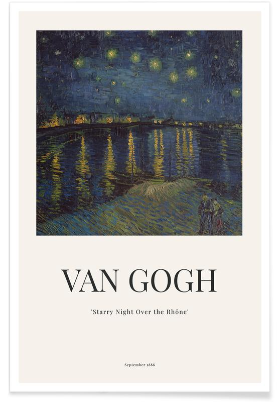 Paysages abstraits, Vincent Van Gogh, van Gogh - Starry Night Over the Rhone affiche