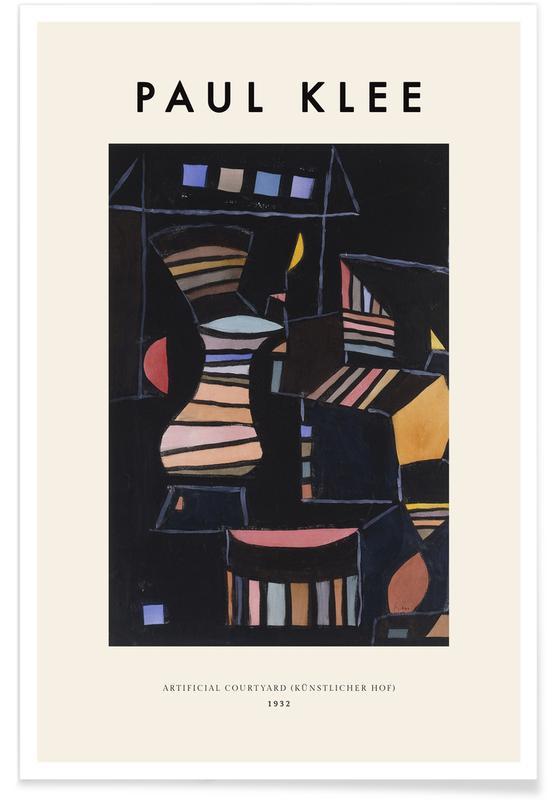 Paul Klee, Klee - Artificial Courtyard affiche